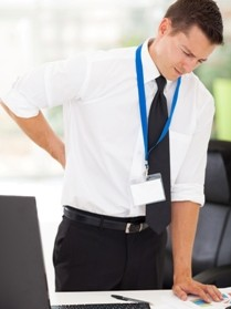 business man with low back pain